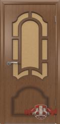 Шпонированная межкомнатная дверь Кристалл остекленная