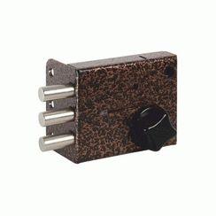 Замок накладной Сенат ЗНС-10-5 5кл 3-ригеля 533 ключ однобородочный (буратино) (10)