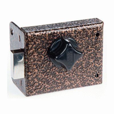 Замок накладной Сенат ЗНС-10-6 5кл  1 ригель 537 ключ однобородочный (буратино) (10)