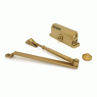 Доводчик дверной NOTEDO DC-060 GOLD до 60 кг золото (10)