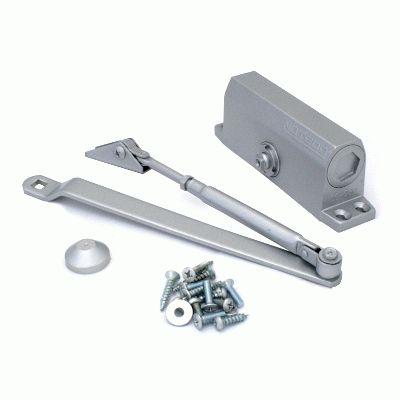 Доводчик дверной NOTEDO  DC-080 SILVER до 80 кг сереб. (10)