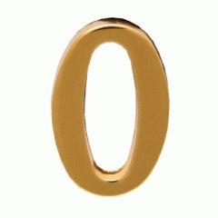 """Цифра дверная Аллюр """"0"""" на клеевой основе  золото"""