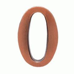 """Цифра дверная Аллюр """"0"""" на клеевой основе  медь"""