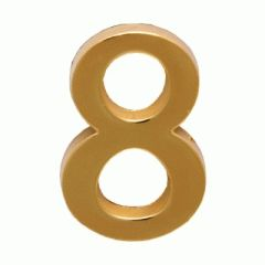 """Цифра дверная Аллюр """"8"""" на клеевой основе  золото"""