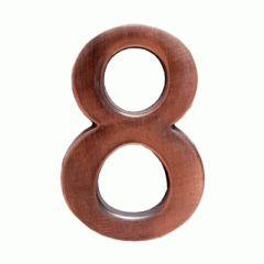 """Цифра дверная Аллюр """"8"""" на клеевой основе  медь"""