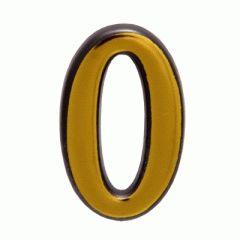 """Цифра дверная Аллюр пластик """"0"""" золото"""