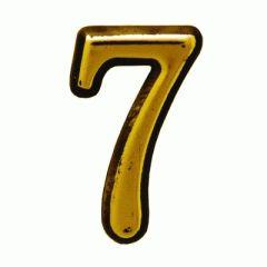 """Цифра дверная Аллюр пластик """"7"""" золото"""