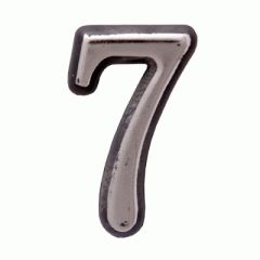 "Цифра дверная Аллюр пластик ""7"" хром"