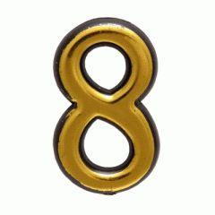 """Цифра дверная Аллюр пластик """"8"""" золото"""