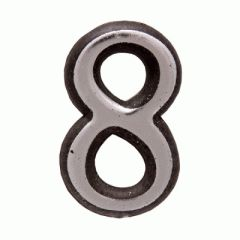 "Цифра дверная Аллюр пластик ""8"" хром"