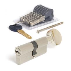 Цилиндровый механизм Апекс Premier CD-70-С-Ni никель кл/верт 6кл+ 1 монтаж.+ 1 перекод.
