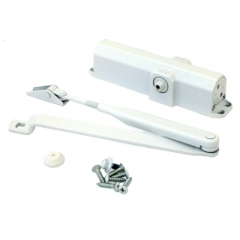 DORMA Доводчик дверной TS Compaktl EN2/3/4 до 120 кг. c рычагом белый