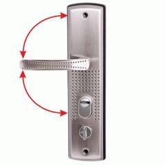 Комплект дверных ручек АЛЛЮР РН-А222 универс. для кит. металл. дверей правая