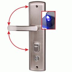 Комплект дверных ручек АЛЛЮР РН-А222-1 универсал.подсветка для кит. металл. дверей правая