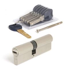 Цилиндровый механизм Апекс Premier CD-90 (40/50) -NI кл/кл. никель перекод.