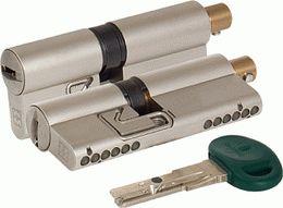 Цилиндровый механизм MOTTURA под вертушку C31F414101C5 (82 мм/36+10+36), МАТ.НИКЕЛЬ