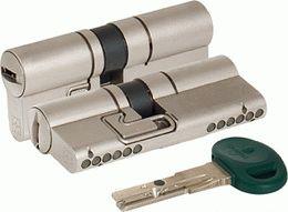Цилиндровый механизм MOTTURA C31D414101C5 (82 мм/36+10+36), МАТ.НИКЕЛЬ