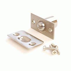 Фиксатор дверной  R-0001 NIS (S)  с/шариком мат.хром