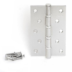 Петля дверная Апекс 120х80-B4-Steel-NIS сатин 4 подшип.