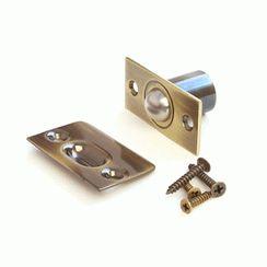 Фиксатор дверной  R-0001 AB с/шариком бронза