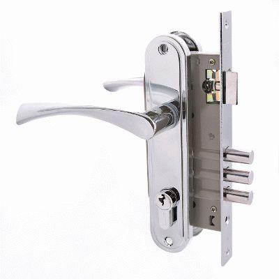 Замок врезной с ручкой АЛЛЮР 103/3 CP хром 4 ключа
