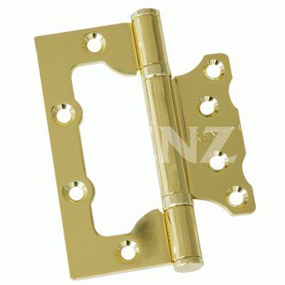 Петля дверная 2 шт Renz 100-2BB FH SB без врезки 2 подш мат.латунь 100*75