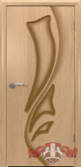Шпонированная межкомнатная дверь Лилия глухая