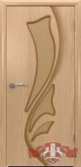 Шпонированная межкомнатная дверь Лилия остекленная