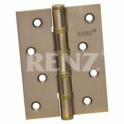 Петля дверная 2 шт Renz 100-4BB FH CF 4 подш кофе 100*75