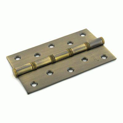 Петля дверная 2 шт Renz 125-4BB FH АВ 4 подш антик бронза 125*75