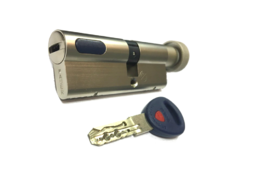 Цилиндровый механизм Мauer New Wave 4 вертушка-ключ-L=102мм/46х56/,цвет никель, 5 ключей