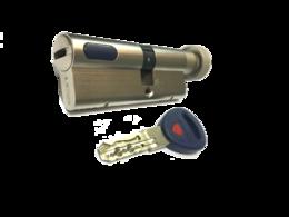 Цилиндровый механизм Mauer New Wave 4 вертушка-ключ-L=82мм/41-41/, цвет никель, 5 ключей