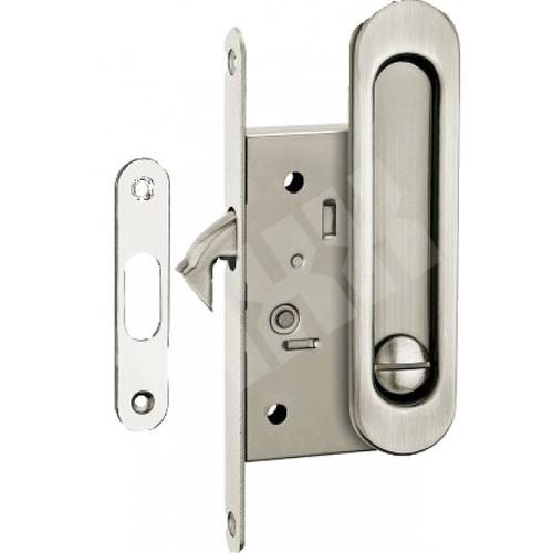 Ручки с замком для раздвижных дверей  никель мат. SDH-BK 501 SN