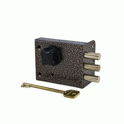 Замок накладной Сенат ЗНС-10-5 3кл 3-ригеля 531 ключ однобородочный (буратино)