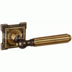 Комплект дверных ручек RENZ DH 68-19 CF Стелла кофе
