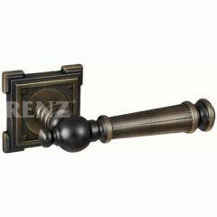 Комплект дверных ручек RENZ DH 69-19 МАВ Валенсия бронза античная матовая