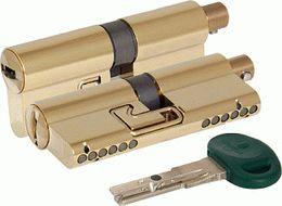 Цилиндровый механизм MOTTURA под вертушку C31F363601TC5 (72 мм/31+10+31), ЛАТУНЬ (PVD)