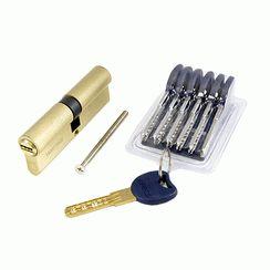 Цилиндровый механизм Апекс Premier CD-90-G золото кл/кл 6кл+ 1 монтаж.+ 1 перекод