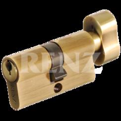 Цилиндровый механизм RENZ CS-H- 60 AB кл/верт. 5 англ.кл. бронза