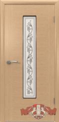 Шпонированная межкомнатная дверь Рондо остекленная