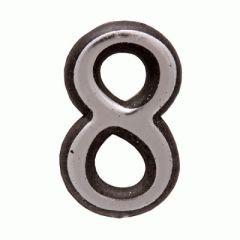 "Цифра дверная Аллюр Большая пластик ""8"" хром"