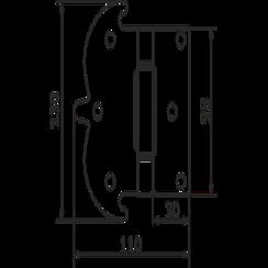 Петля фигурная Домарт 130*110 без покр .