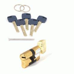 Цилиндровый механизм Апекс Premier XR-60-C15-G  золото кл/верт. перфо