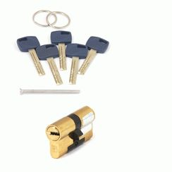 Цилиндровый механизм Апекс Premier XR-60-G  золото кл/кл. перфо