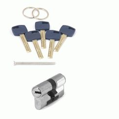Цилиндровый механизм Апекс Premier XR-60-NI  никель кл/кл. перфо