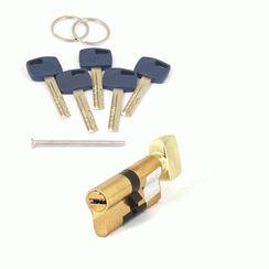 Цилиндровый механизм Апекс Premier XR-70-C15-G  золото кл/верт. перфо