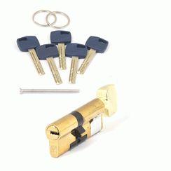 Цилиндровый механизм Апекс Premier XR-80 (35/45C)-C15-G   золото кл/верт. перфо