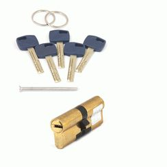 Цилиндровый механизм Апекс Premier XR-80-G  золото кл/кл. перфо