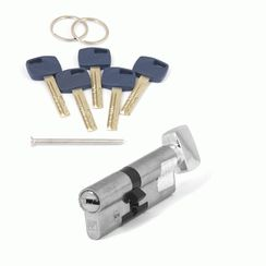 Цилиндровый механизм Апекс Premier XR-90 (40/50C)-C15-NI никель кл/верт. перфо
