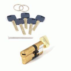 Цилиндровый механизм Апекс Premier XR-90 (40C/50)-C15-G золото кл/верт. перфо